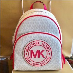 Brand New! Michael Kors MK Backpack hot pink white